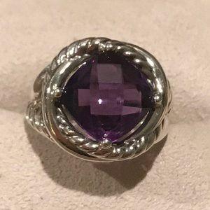 Authentic David Yurman Ring with Amethyst stone